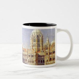 The British Raj Great Indian Peninsular Terminus Two-Tone Coffee Mug