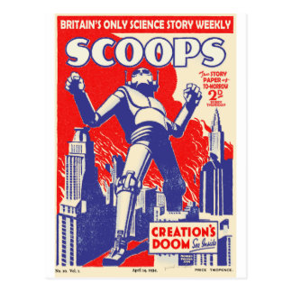The British Robots Are coming! Postcard