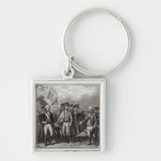 The British Surrendering their Arms Keychain