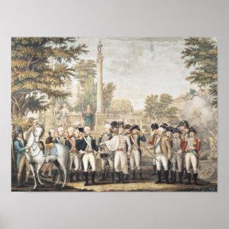 The British Surrendering to General Washington Poster
