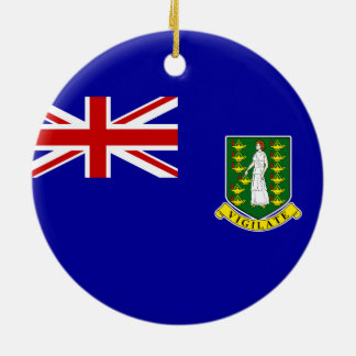 The British Virgin Islands Flag Double-Sided Ceramic Round Christmas Ornament