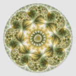 The Broccolator - Fractal Art Classic Round Sticker