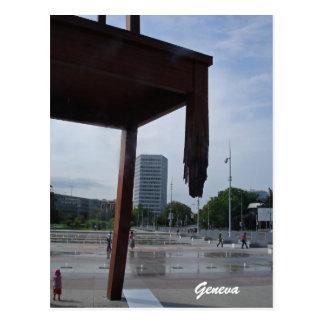 The Broken Chair in Geneva Postcard