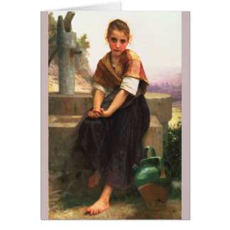 The Broken Pitcher by Bouguereau Greeting Cards