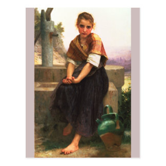 The Broken Pitcher by Bouguereau Post Cards