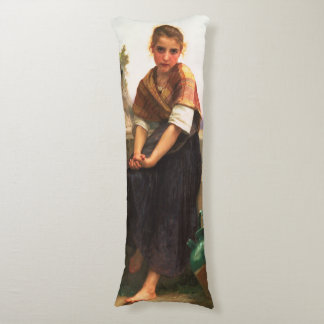 The Broken Pitcher by William-Adolphe Bouguereau Body Pillow
