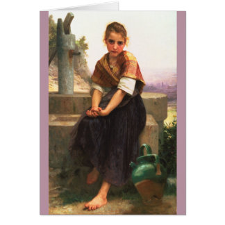 The Broken Pitcher by William-Adolphe Bouguereau Cards