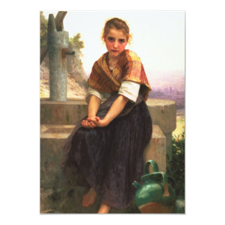 The Broken Pitcher by William-Adolphe Bouguereau Card