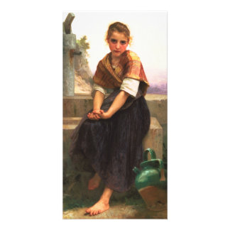 The Broken Pitcher by William-Adolphe Bouguereau Photo Card Template