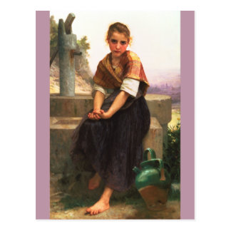 The Broken Pitcher by William-Adolphe Bouguereau Post Cards