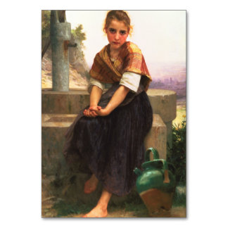 The Broken Pitcher by William-Adolphe Bouguereau Table Cards