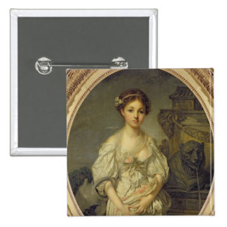 The Broken Pitcher, c.1772-73 2 Inch Square Button