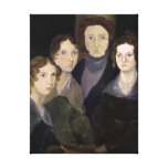 The Bronte Family Pillar Portrait by Branwell Canvas Print