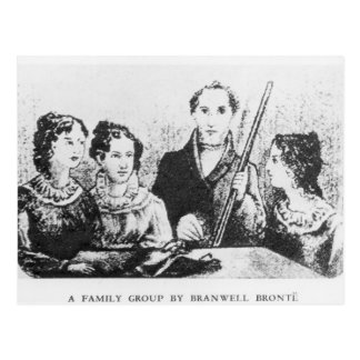 The Bronte Family Postcard
