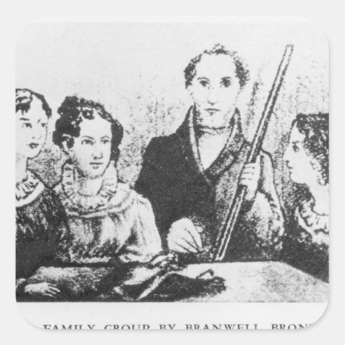 The Bronte Family Square Sticker