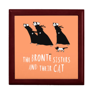 The Bronte Sisters and Their Cat Trinket Boxes