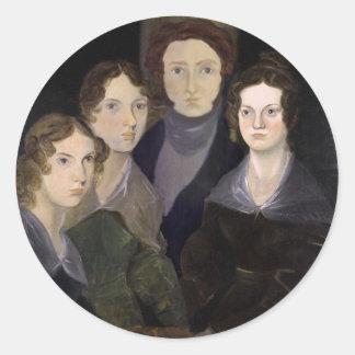 The Brontës ~ Restored Pillar Portrait Classic Round Sticker