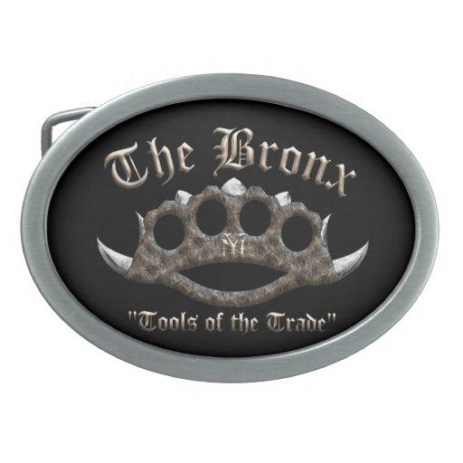 The Bronx - Spiked Brass Knuckles Oval Belt Buckle
