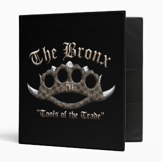 The Bronx - Spiked Brass Knuckles 3 Ring Binder
