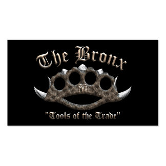 The Bronx - Spiked Brass Knuckles Business Card Templates