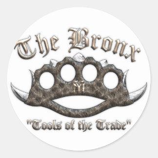 The Bronx - Spiked Brass Knuckles Classic Round Sticker