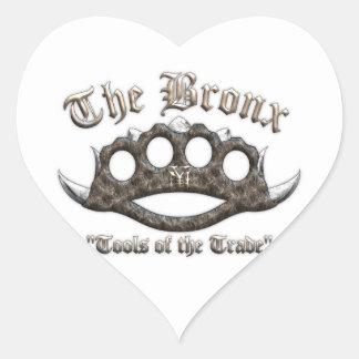 The Bronx - Spiked Brass Knuckles Heart Sticker