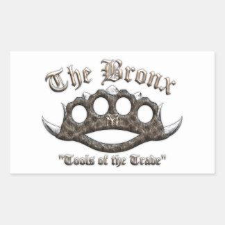The Bronx - Spiked Brass Knuckles Rectangular Sticker