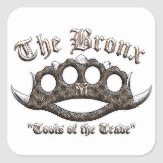 The Bronx - Spiked Brass Knuckles Square Sticker