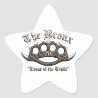 The Bronx - Spiked Brass Knuckles Star Sticker