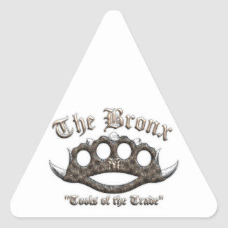The Bronx - Spiked Brass Knuckles Triangle Sticker