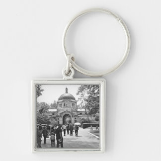 The Bronx Zoo Entrance Silver-Colored Square Keychain