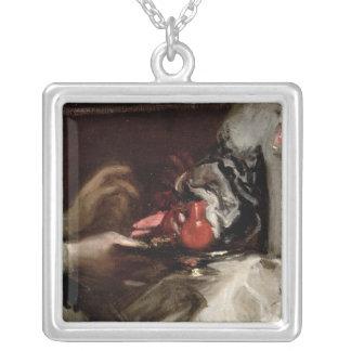 The Brooch of Infanta Margarita Maria Square Pendant Necklace
