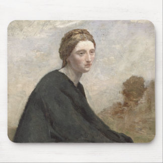 The brooding girl, c.1857 mouse pad