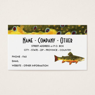 The Brook Trout Business Card