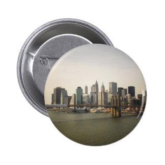 The Brooklyn Bridge and the New York City Skyline Pin