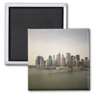 The Brooklyn Bridge and the New York City Skyline Magnet