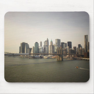 The Brooklyn Bridge and the New York City Skyline Mouse Pad