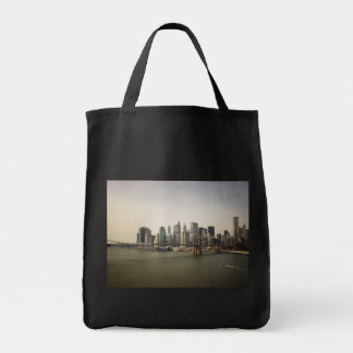 The Brooklyn Bridge and the New York City Skyline Tote Bag
