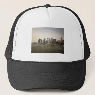 The Brooklyn Bridge and the New York City Skyline Trucker Hat