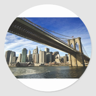 The Brooklyn Bridge Classic Round Sticker