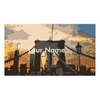The Brooklyn Bridge Double-Sided Standard Business Cards (Pack Of 100)