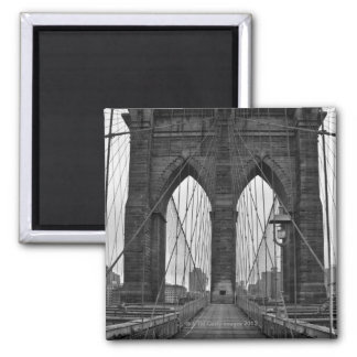 The Brooklyn Bridge in New York City 2 Inch Square Magnet