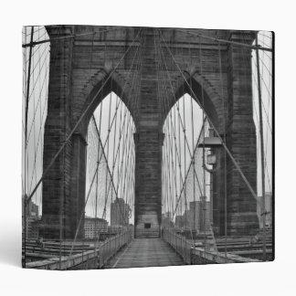 The Brooklyn Bridge in New York City 3 Ring Binder