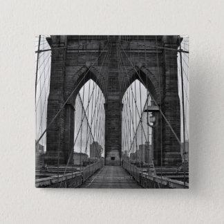 The Brooklyn Bridge in New York City Button