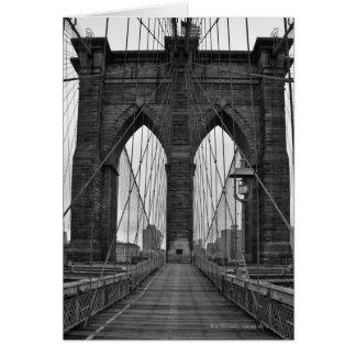 The Brooklyn Bridge in New York City Card