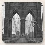 The Brooklyn Bridge in New York City Beverage Coaster