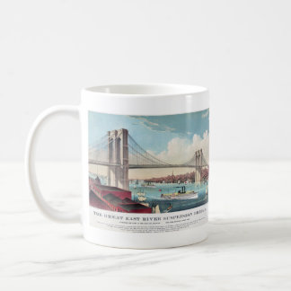 The Brooklyn Bridge in New York City from 1883 Coffee Mug