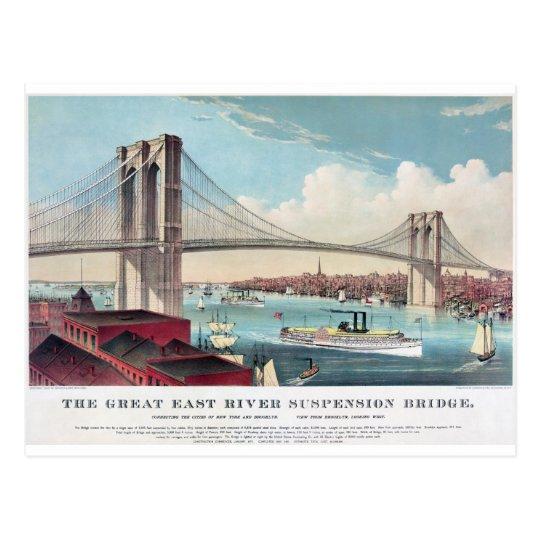 The Brooklyn Bridge in New York City from 1883 Postcard