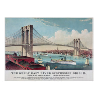 The Brooklyn Bridge in New York City from 1883 Posters