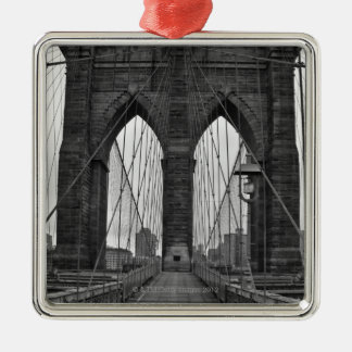 The Brooklyn Bridge in New York City Metal Ornament
